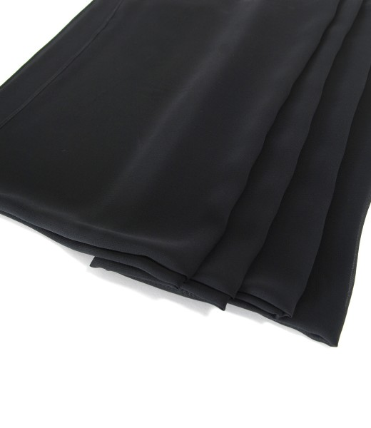 Black veil wrap