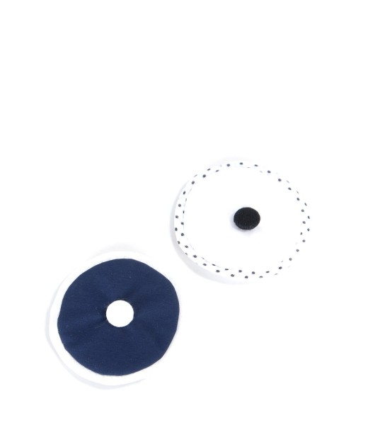 Blue- white flower brooch set