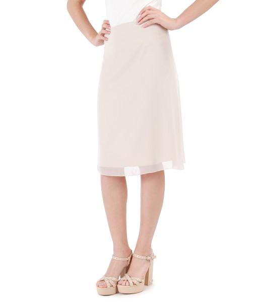 Flaring veil skirt