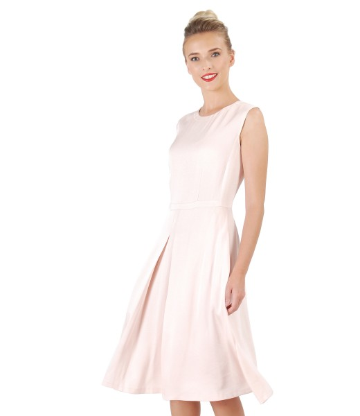 Flaring viscose dress