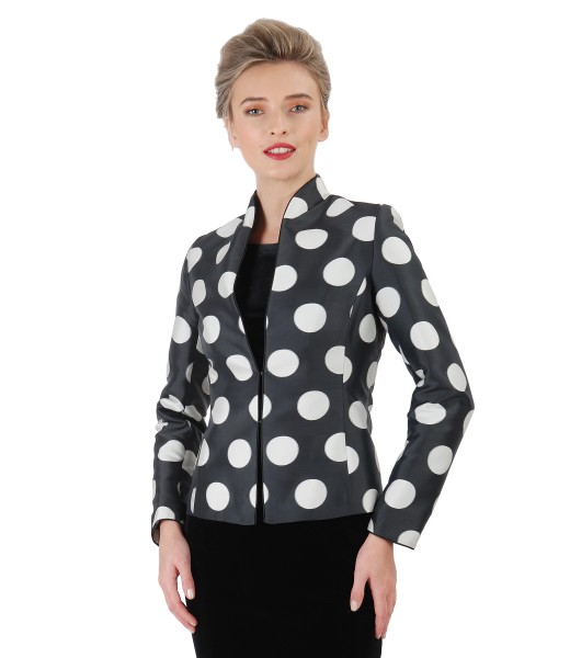 Elegant jacket with dots print