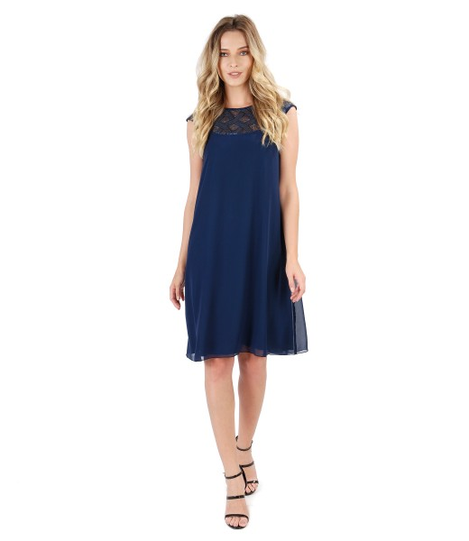 Flaring dress with trim