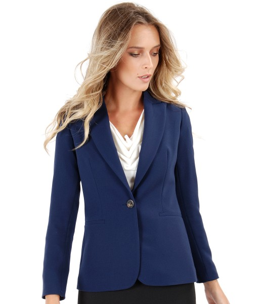Office jacket made of elastic fabric