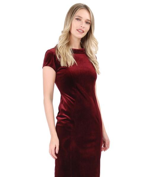 Elastic velvet dress with Swarovski crystals