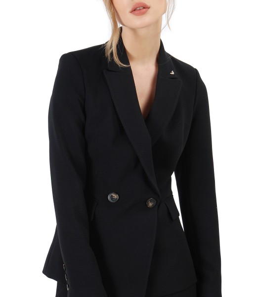 Office fabric jacket embellished with crystals