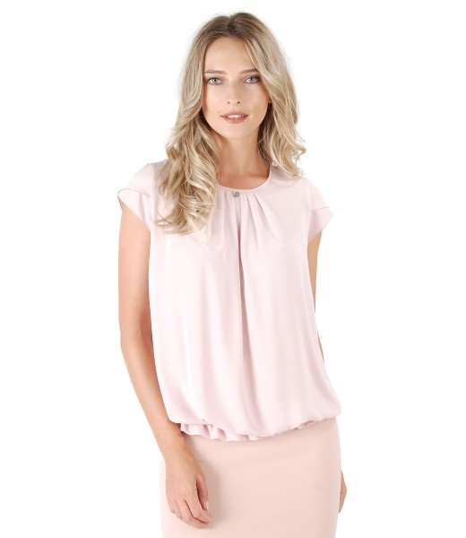 Elegant blouse with front folds