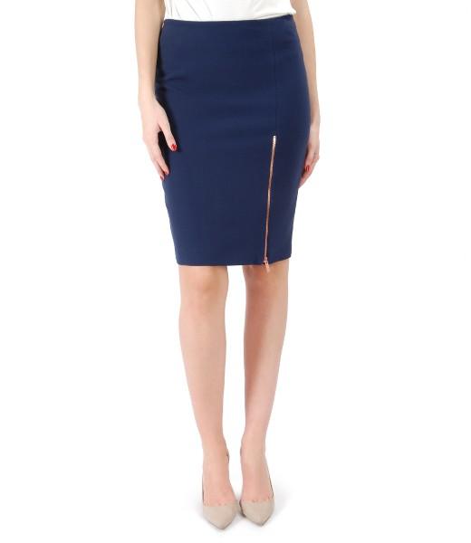 Office skirt with zipper