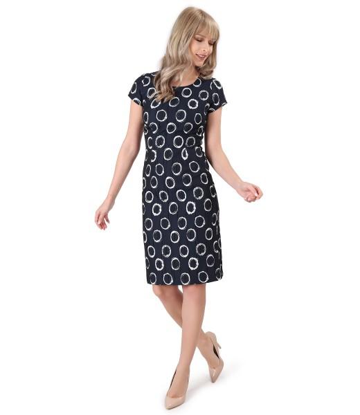 Elegant dress made of corrugated elastic cotton