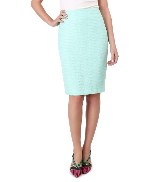Office skirt with viscose loops
