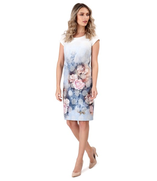 Elegant dress with floral motifs
