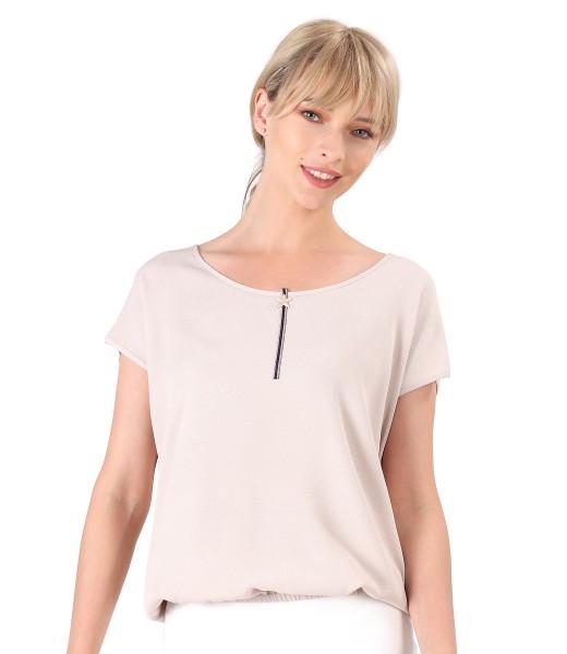 Casual blouse made of uni viscose