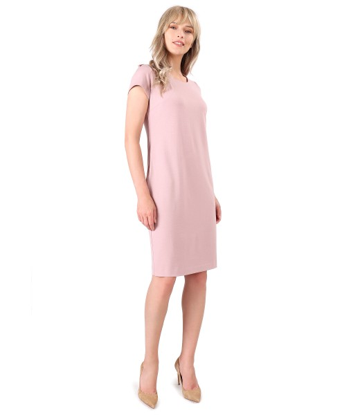 Viscose dress with side pockets