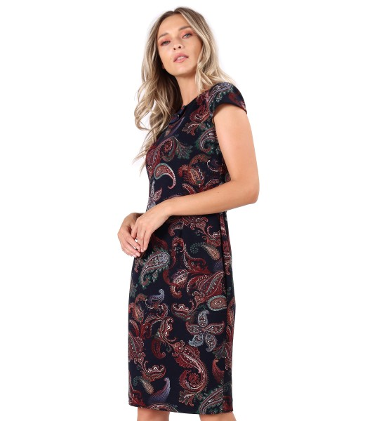 Midi dress made of printed elastic jersey