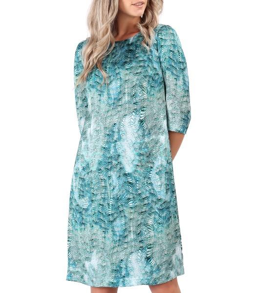 Casual dress made of printed satin