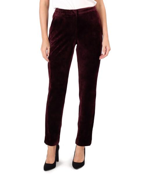 Elastic velvet pants