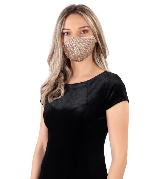 Reusable mask with sequins