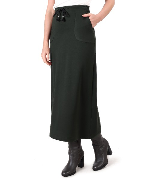 Casual skirt made of thick elastic jersey