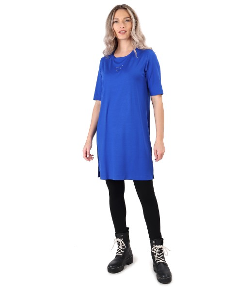 Elastic jersey casual dress