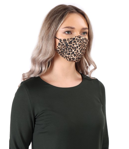 Reusable mask with leopard print
