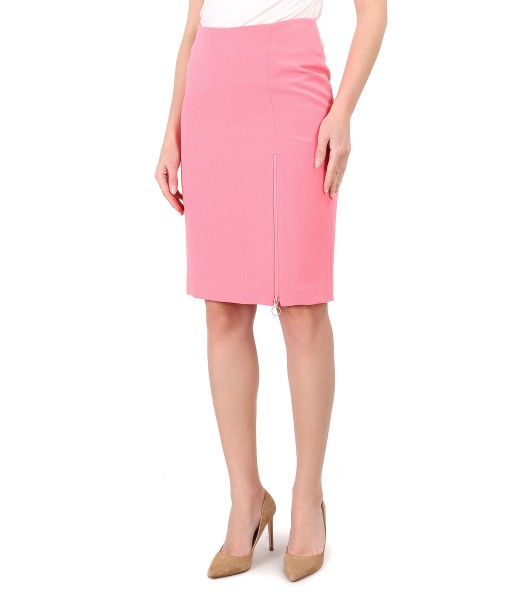 Office skirt with zipper on the front