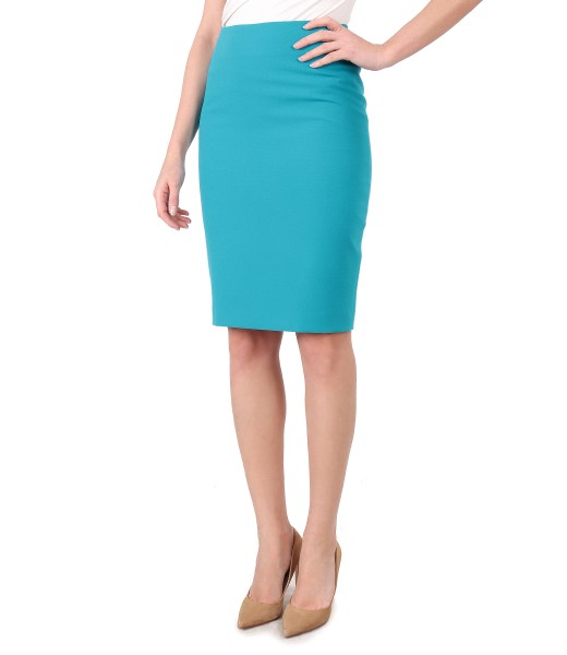 Tapered skirt made of elastic fabric