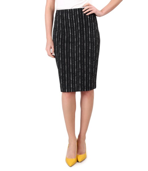 Tapered skirt made of thick elastic jersey