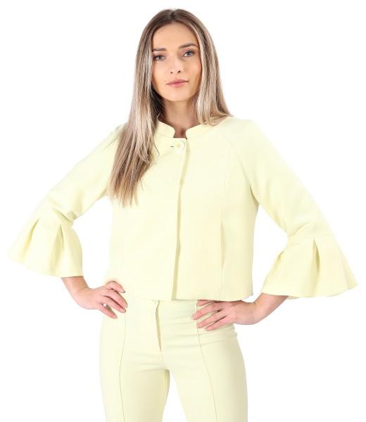 Elegant jacket with peplum cuffs