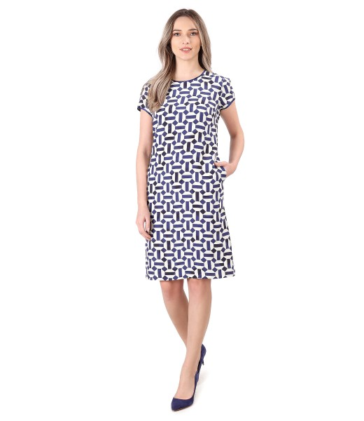 Elegant viscose dress with linen