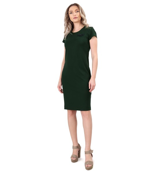 Elastic jersey elegant dress