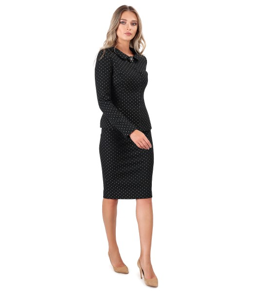 Office women suit with thick cotton skirt and jacket