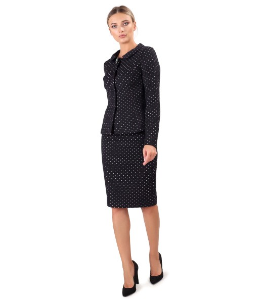 Jacket with office skirt in thick cotton
