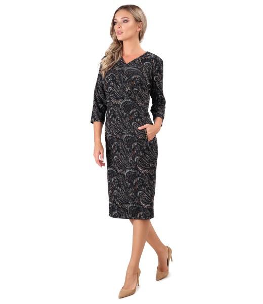 Elegant dress made of elastic brocade