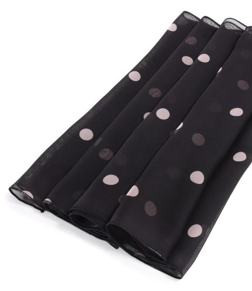 Organza veil scarf printed with polka dots